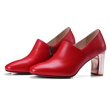 Noir Escarpin à Femme Cuir Talon Nappa Talons Basique Rouge Chaussures amp; Chaussures Printemps Automne Bottier Confort 06850021 Bwqgw6C0f