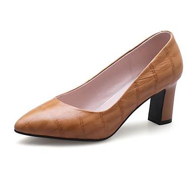 Bottier Noir Basique Confort Chaussures Peau Femme 06850183 mouton à Escarpin Automne Chaussures Printemps Talons Marron de Talon amp; SS6nz