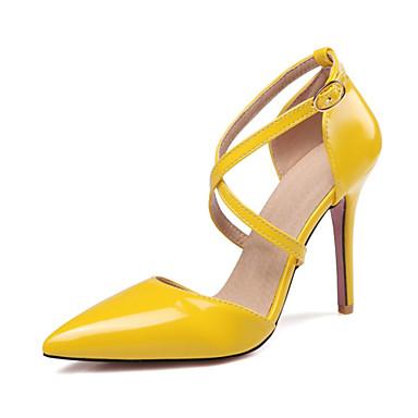 pompes à des femmes au printemps et à l'été l'été l'été de cuir beige talons de talon aiguille orteil jaune ou rose / mariage / partie & soir 277dd9