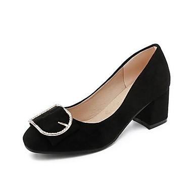 womens shoes suede spring basic pump heels wedge heel