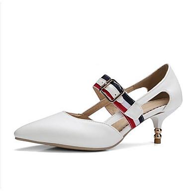 Negro Confort Tacón Mujer Zapatos Tacones Rojo PU Blanco Primavera 06843343 Stiletto gqPqR8w7W