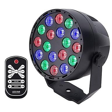 billige Utendørsbelysning-YouOKLight 1pc 18 W LED-lyskastere / plen Lights Fjernstyrt / Dekorativ / Projektorlys RGB 100-240 V Utendørsbelysning / Courtyard / Have 18 LED perler