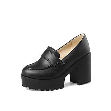 Wine de Primavera Slip Zapatos taco Almendra 06848526 Zapatos Mujer Cuadrado Confort PU verano Negro bajo y On Tacón FEYcZqw