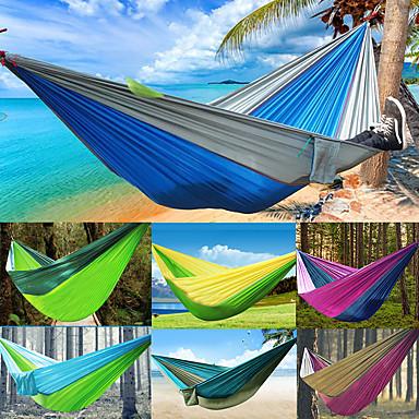 Hamaca para camping Al aire libre A Prueba de Humedad, Bien Ventilado, Utra ligero (UL) Nailon para Caza / Senderismo / Pesca - 2 Personas