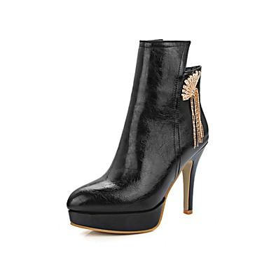 Mode Botte Noir Automne Gris Femme Bottes Chaussures Rouge Aiguille à Polyuréthane Demi Bottes la Talon 06858867 Bottine hiver Rf06Hq