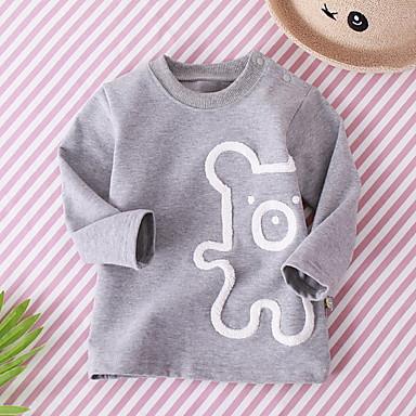 f42b833633b Μωρό Κοριτσίστικα Ενεργό Στάμπα Μακρυμάνικο Πολυεστέρας Μπλούζα με Κουκούλα  & Φούτερ Ανθισμένο Ροζ