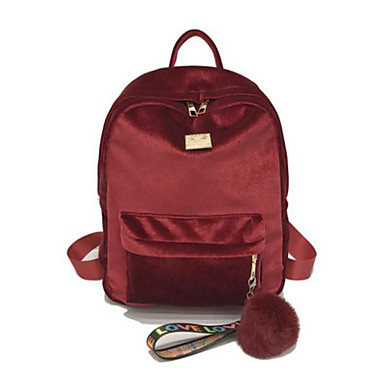 3cf4cc5fa9c150 Women's Bags Velvet Backpack Feathers / Fur Silver / Blushing Pink / Red