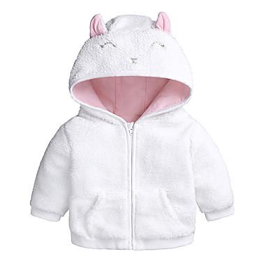 levne Dětské bundičky a kabátky-Dítě Dívčí Základní Denní / Jdeme ven Jednobarevné Dlouhý rukáv Standardní Bavlna Bundičky a kabáty Bílá
