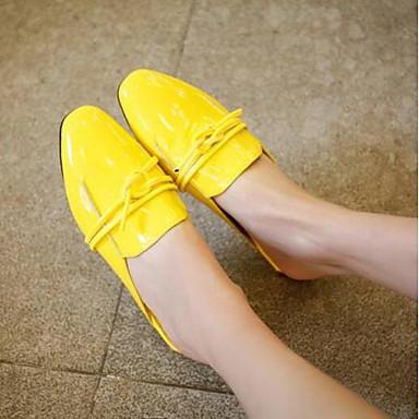 Sabot Confort Eté Noir Plat Chaussures Printemps Femme Jaune Cuir 06846003 amp; Talon fermé Bout Nappa Mules nY1SRx