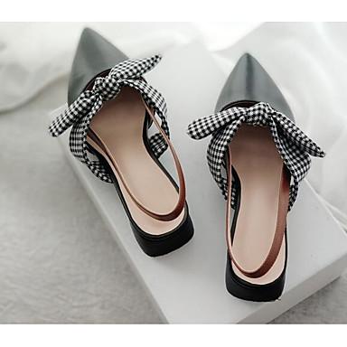 Femme Chaussures Chaussures Chaussures de confort Cuir Nappa Printemps Sabot & Mules Talon Bas Noir / Beige | Achats En Ligne  d477f3