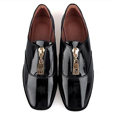 Femme Mocassins Bourgogne Eté Cuir Verni fermé et Chaussures Blanc Noir Printemps Chaussons 06840971 Plat Confort Talon Bout D6148 rpwrF