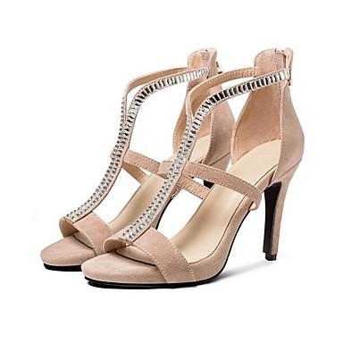 Eté Chaussures Femme Aiguille Basique 06841802 Noir Daim Talon Confort Amande Escarpin Sandales nRn7prx