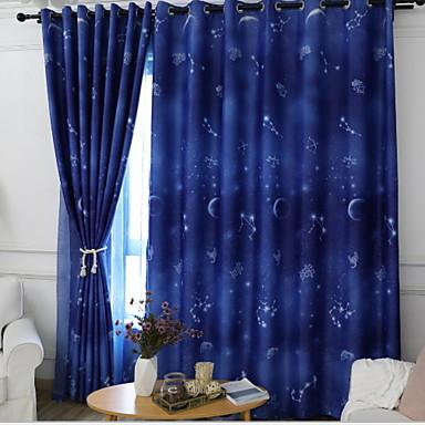 occultant rideaux tentures deux panneaux 2 w140cm l259cm bleu chambre coucher de 6927028