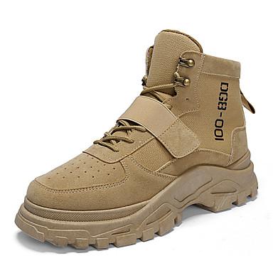 Muškarci Vojničke čizme Brušena koža Zima Ležerne prilike / Uglađeni Čizme Ugrijati Čizme gležnjače / do gležnja Crn / Bež / Žutomrk