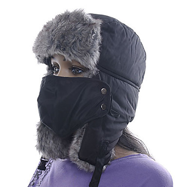 56a6bd152ae Men s Women s Chapka Hat Fur Hat Thermal   Warm Winter Sports Polyester  Pollution Protection Mask Hat