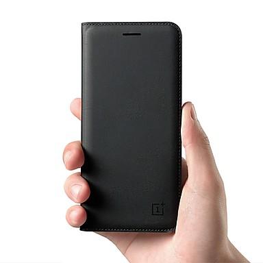 Etui Käyttötarkoitus OnePlus OnePlus 6 / One Plus 5 / OnePlus 5T Korttikotelo / Flip Suojakuori Yhtenäinen Kova aitoa nahkaa