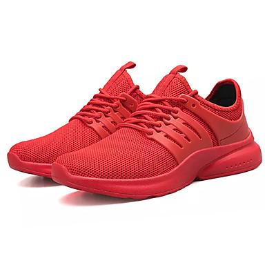 Erkek Ayakkabı Örümcek Ağı / PU Sonbahar Sportif Atletik Ayakkabılar Koşu Atletik için Siyah / Kırmzı / Siyah / Beyaz