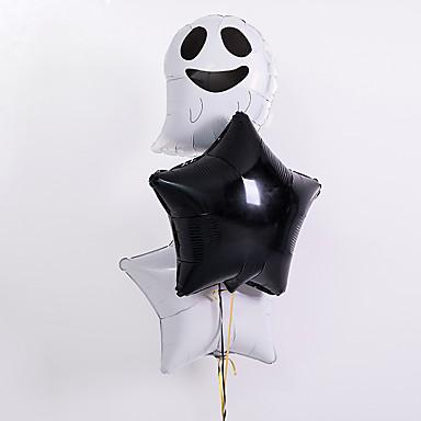 voordelige Feestbenodigdheden-Ballonbundel Aluminiumfolie 3 stuks Halloween