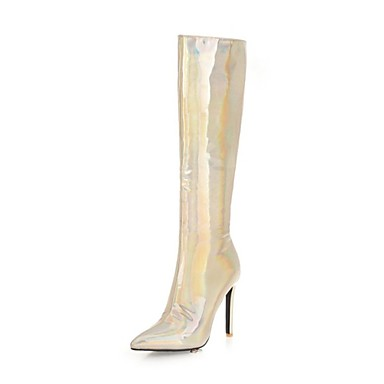 d50d3b3f7e2 Women's Fashion Boots Synthetics Winter Boots Stiletto Heel Pointed Toe  Over The Knee Boots Gold / Silver / Wedding / Party & Evening #06931826