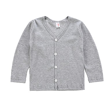 cheap Girls' Sweaters & Cardigans-Toddler Girls' Active / Basic Daily / Sports Solid Colored / Striped Long Sleeve Regular Cotton / Polyester Sweater & Cardigan Red
