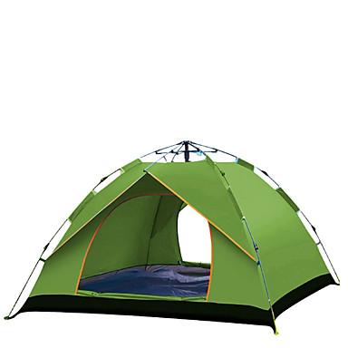 TANXIANZHE® 4 شخص أوتوماتيكي الخيمة في الهواء الطلق ضد الهواء مقاوم للأشعة فوق البنفسجية مكتشف الأمطار أوتوماتيكي خيمة التخييم 2000-3000 mm إلى صيد السمك شاطئ Camping / Hiking / Caving قماش اكسفورد