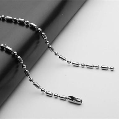 voordelige Herensieraden-Heren Kettingen Enkele Draad Bal Mariner Chain Europees Roestvast staal Zilver 55 cm Kettingen Sieraden 1pc Voor Dagelijks