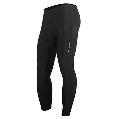 Nuckily Men's Cycling Tights Bike Bottoms 3D Pad, Quick Dry, Anatomic Design Solid Colored, Classic, Fashion Polyester, Spandex Black Advanced Mountain Cycling Relaxed Fit Bike Wear / Stretchy