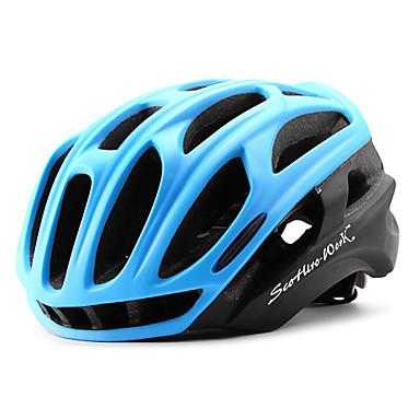 Scohiro-Work Voksen Bike Helmet 34 Ventiler CE / CE EN 1077 Nedslags Resistent, Letvægt, Justérbar pasform EPS, PC Sport Vej Cykling / Rekreativ Cykling / Cykling / Cykel - Grøn / Blå / Sort / Rød