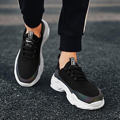 Homme Chaussures de confort confort confort Polyuréthane Automne Décontracté Chaussures d'Athlétisme Marche Respirable Blanc / Noir | Des Performances Fiables  b44cb2
