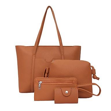 05a3192dbe Γυναικεία Τσάντες PU Σετ τσάντα 4 σετ Σετ τσαντών Φερμουάρ Ανθισμένο Ροζ    Ανοικτό Γκρίζο   Καφέ
