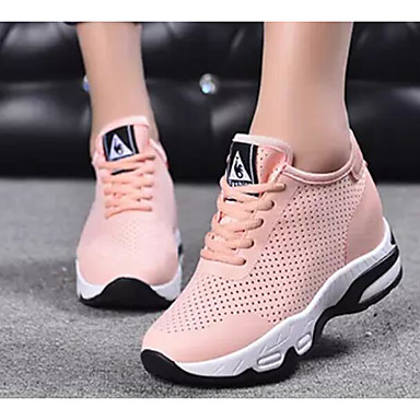 Women's Comfort Shoes Shoes Mesh Summer Athletic Shoes Comfort Running Shoes Low Heel White / Black / Pink eba2ff