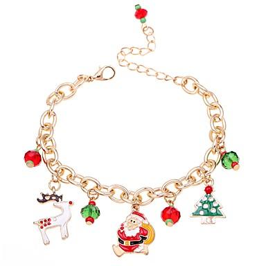 abordables Bracelet-Chaînes Bracelets Bracelet Pendentif Femme Classique Cerf Arbre de Noël dames Mode Style Folk Bracelet Bijoux Rouge Irrégulier pour Noël Carnaval