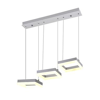 3 lumières Mini Lampe suspendue Lumière dirigée vers le bas Finitions Peintes Verre Protection des Yeux, Design nouveau 110-120V / 220-240V Blanc Crème / Blanc Neige Source lumineuse de LED incluse