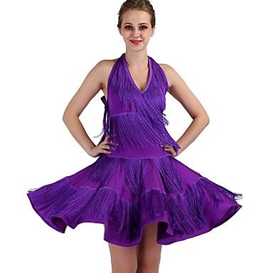 danse latine robes femme utilisation spandex gland sans. Black Bedroom Furniture Sets. Home Design Ideas