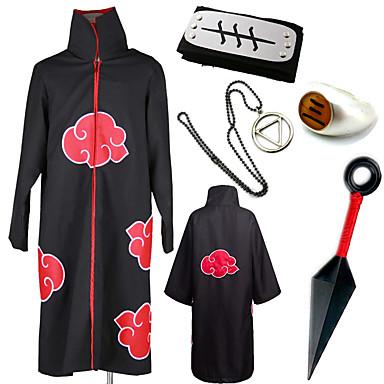 Inspirado por Naruto Akatsuki / Hidan Animé Disfraces de cosplay Trajes Cosplay / Más Accesorios Estampado Capa / Cinta / Kunai Para Hombre