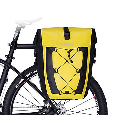 abordables Sacoches de Vélo-27 L Sacs de Porte-Bagage Sacoche Double Velo / Sac de Porte-Bagage Etanche Portable Pluie Etanche Sac de Vélo TPU Nylon 420D Sac de Cyclisme Sacoche de Vélo Cyclisme Activités Extérieures