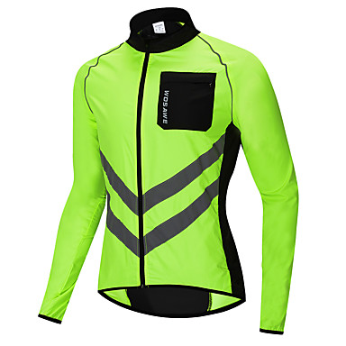 WOSAWE Men s Cycling Jersey Cycling Jacket Bike Windbreaker Top Windproof  Reflective Strips Back Pocket Sports Polyester e2b68776b