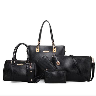 7bf7ac9398 Γυναικεία Τσάντες PU Σετ τσάντα 6 σελ. Σετ πορτοφολιών Φερμουάρ Χρυσό    Μαύρο   Μπεζ