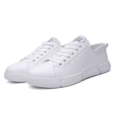 homme / femme chaussures confort les hommes (polyuréthanne) printemps et / automne occasionnel / et bcbg, baskets blanc / noir / rouge design attrayant 036784