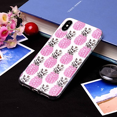 Θήκη Za Apple iPhone XS / iPhone XR / iPhone XS Max IMD / Translucent Stražnja maska Hrana / Voće Mekano TPU