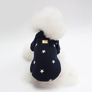 Perros Sudadera Ropa para Perro Personajes Estrellas Azul Oscuro Rosa Algodón Disfraz Para Bulldog Shiba Inu Doguillo Otoño Invierno Unisex Estilo Dulce Calentadores