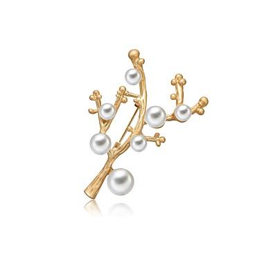 Žene Slatkovodni biser Broševi dame Gotika Moda Slatka Style Broš Jewelry Zlato Za Dar Spoj