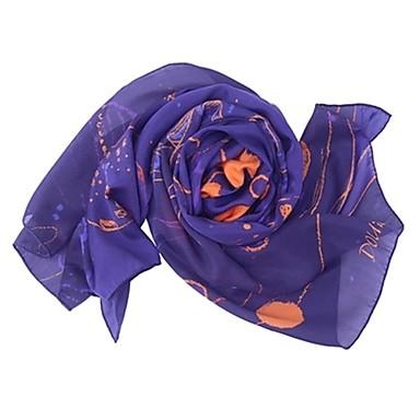 Недорогие Аксессуары для сумок-Шелк Шарф / лента Жен. Повседневные Синий / Розовый