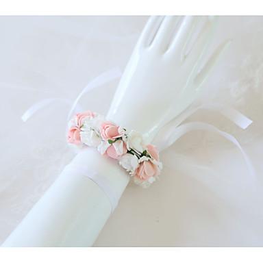 Cvijeće za vjenčanje Wrist Corsage Vjenčanje / Svadba Svila / Pjena 0-10 cm