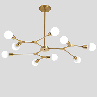 Electroplated Northern Europe Chandelier 9-Head Modern Metal ...