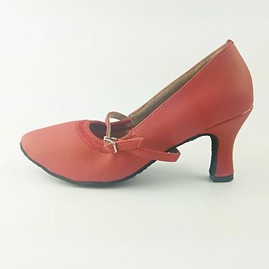 Attento Per Donna Scarpe Per Danza Moderna Similpelle Tacchi Tacco Cubano Personalizzabile Scarpe Da Ballo Rosso #07201728 L'Ultima Moda