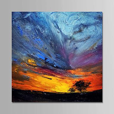 levne Obrazy a nástěnné dekorace-Hang-malované olejomalba Ručně malované - Abstraktní Moderní Bez vnitřní rám / Válcované plátno