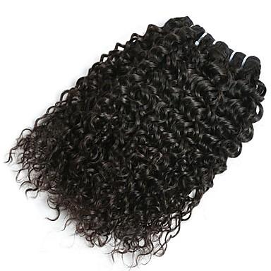baratos Extensões de Cabelo Natural-6 pacotes Cabelo Malaio Onda de Água Cabelo Humano Não processado Cabelo Natural Cabelo Humano Ondulado Extensor Cabelo Bundle 8-28 polegada Côr Natural Tramas de cabelo humano Sedoso Casamento Para