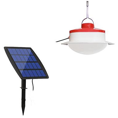 1pc 2 W אורות דשא עמיד במים / סולרי / דקורטיבי לבן 3.7 V תאורת חוץ / חָצֵר / גן 24 LED חרוזים