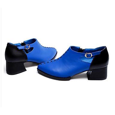 Femme Cuir Nappa Printemps Mocassins et Chaussons+D6148 Talon Bottier Bottier Bottier Noir / Bleu | Une Bonne Conservation De La Chaleur  835c50